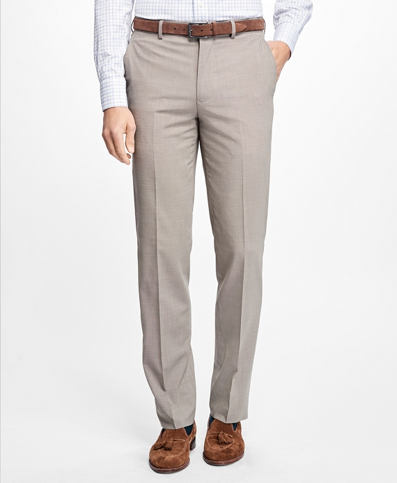 Fitzgerald Fit BrooksCool® Houndstooth Trousers Tan