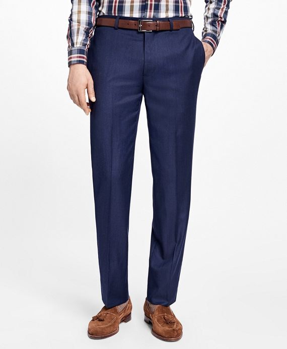 Regent Fit Stretch Wool Trousers Blue