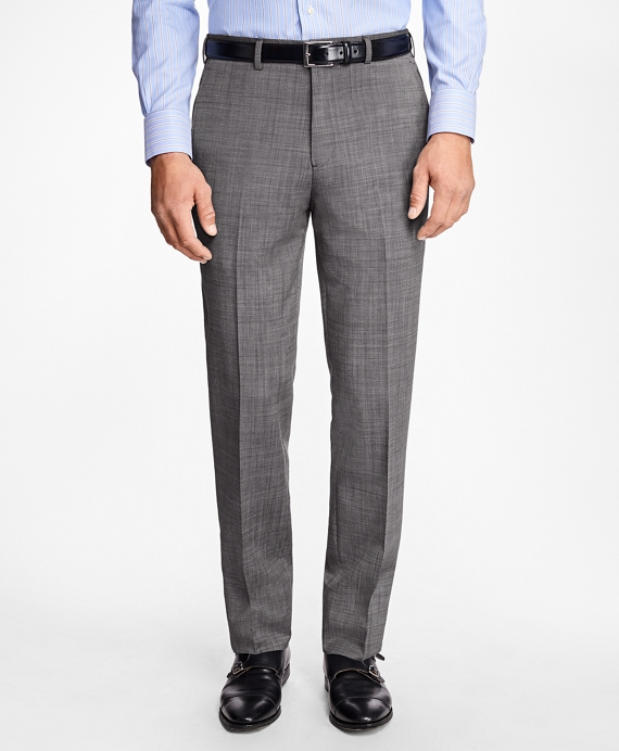Regent Fit Wool and Mohair Trousers Grey