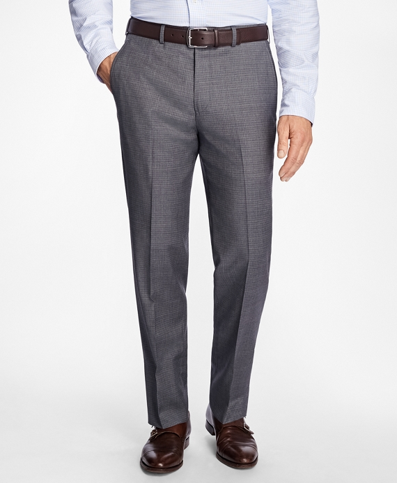 Madison Fit Tattersall Dress Trousers Grey