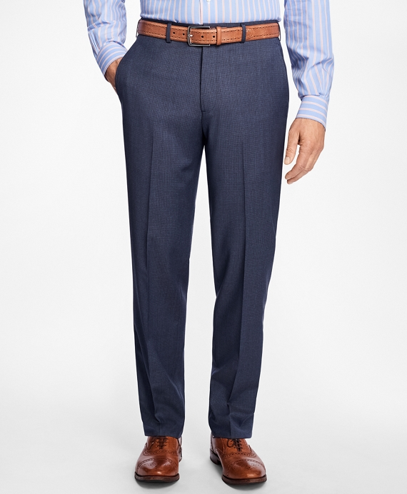Madison Fit Mult-Check Dress Trousers Blue