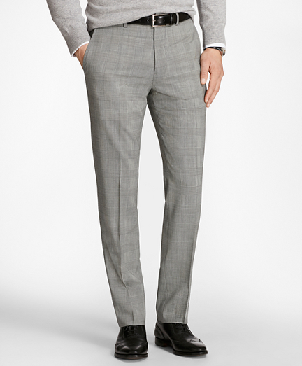 Regent Fit BrooksCool® Glen Plaid Trousers