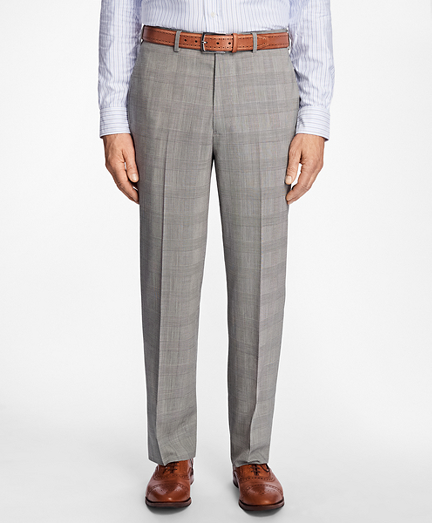 Madison Fit BrooksCool® Glen Plaid Trousers