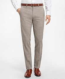 Regent Fit BrooksCool® Houndstooth Trousers