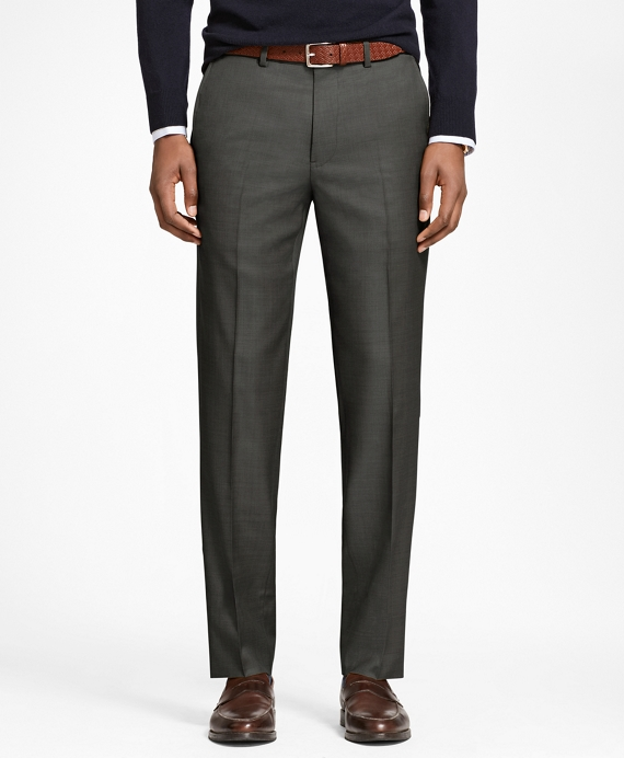 Milano Fit Stretch Wool Trousers Olive