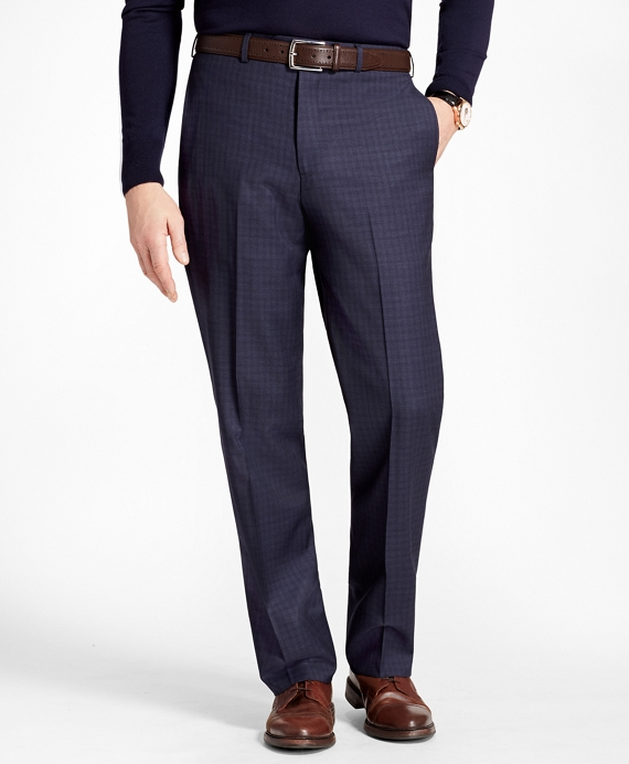 Madison Fit Tonal Check Trousers Blue