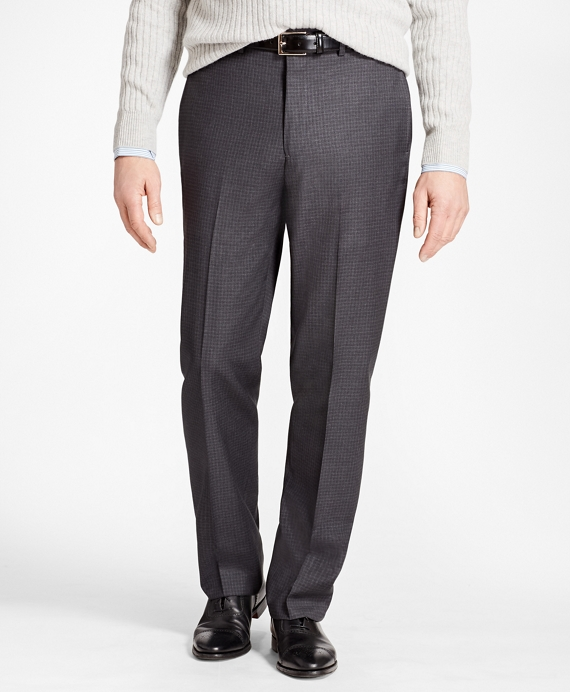 Madison Fit Grey Tonal Check Trousers Grey
