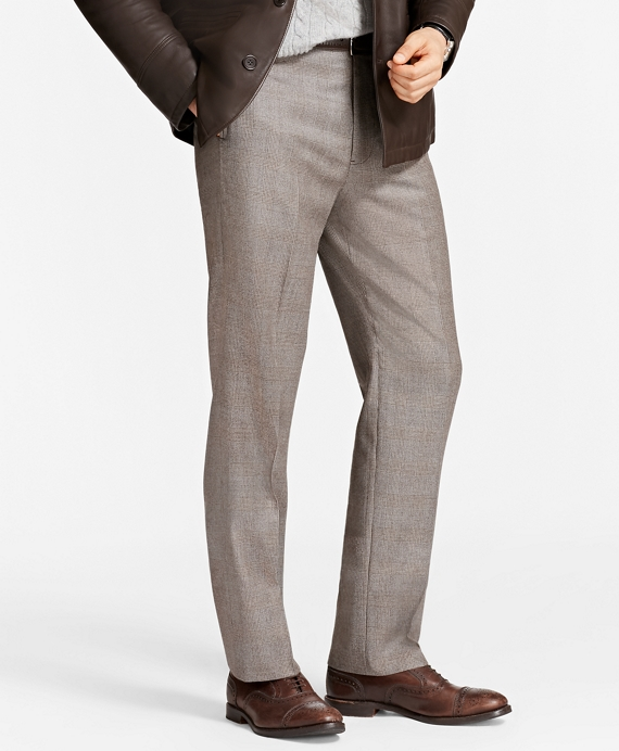 Madison Fit Plaid Trousers Brown
