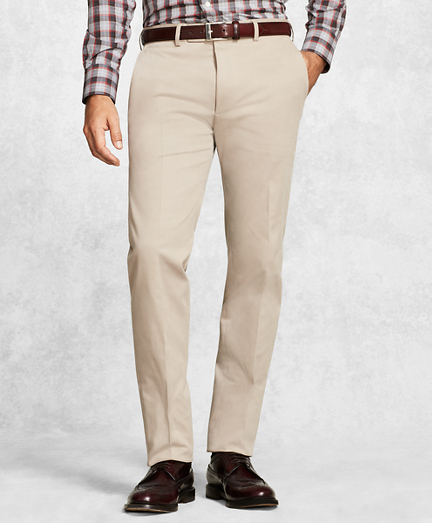 Golden Fleece® Solid Khaki Dress Trousers