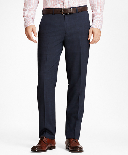 Regent Fit Plaid Trousers