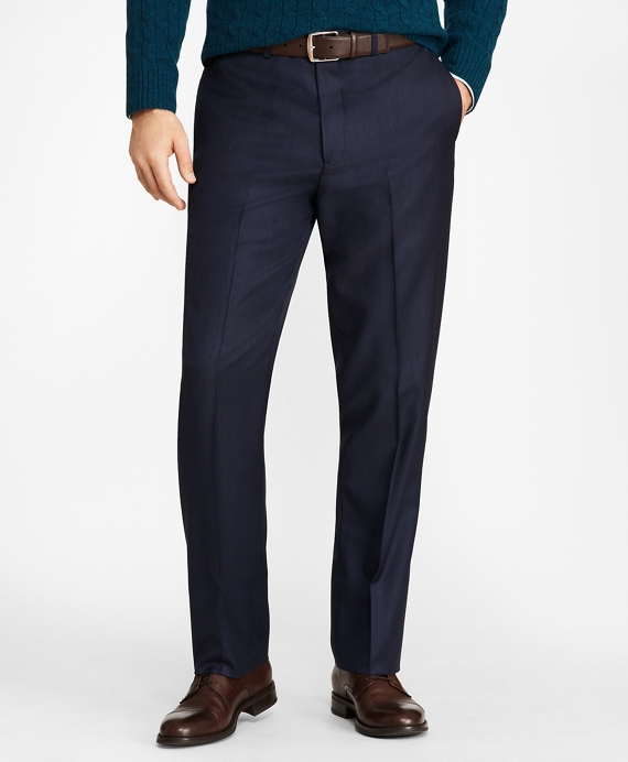 Madison Fit Stretch Wool Trousers Blue