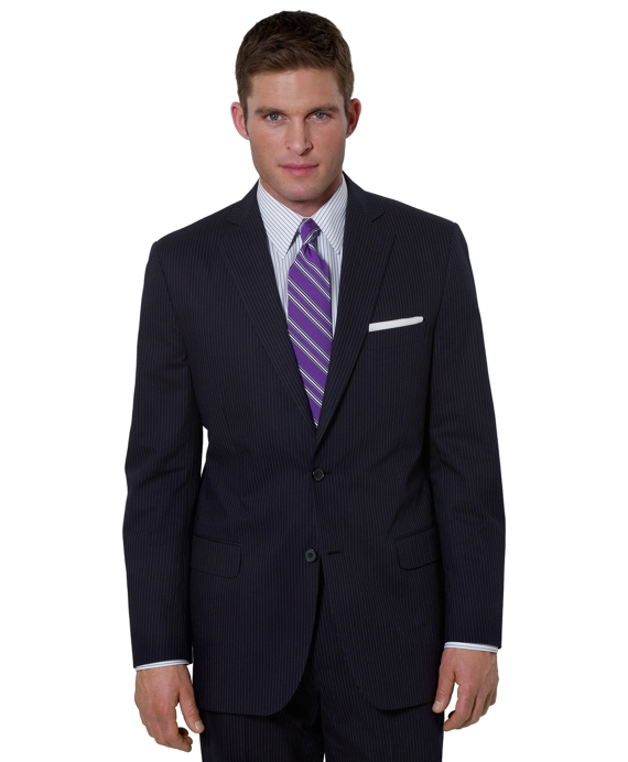 Fine Stripe Fitzgerald Fit Suit Navy-White