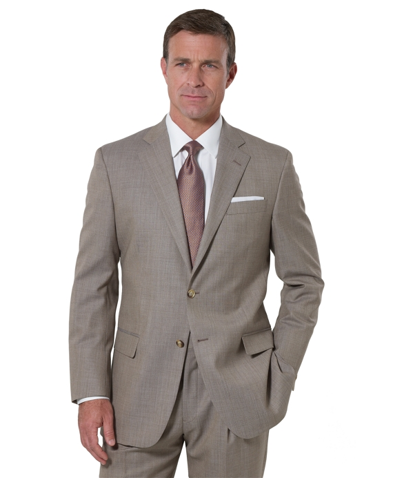 Madison Saxxon Pin Dot 1818 Suit Tan