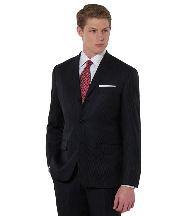 Milano Saxxon Mini Stripe 1818 Suit Navy