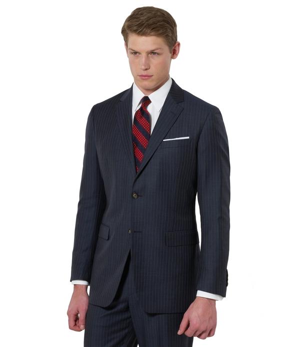 Milano Fine Stripe 1818 Suit Blue