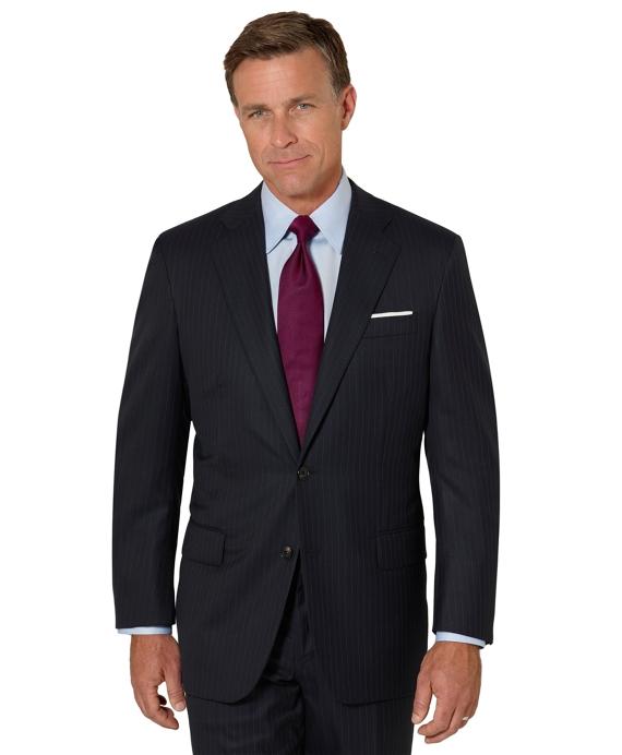 Golden Fleece® Saxxon Pinstripe Madison Fit Suit Navy