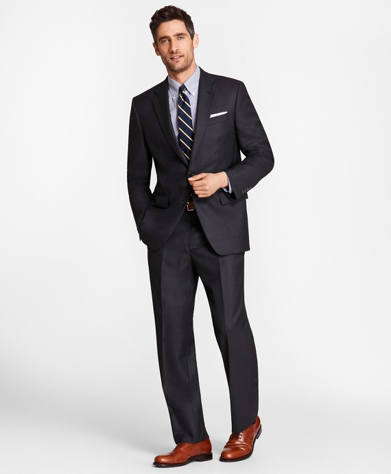 Madison Fit Saxxon Wool Navy Tic 1818 Suit Blue
