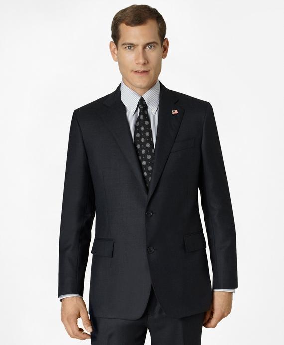 Regent Fit Saxxon™ Wool Tic 1818 Suit Blue