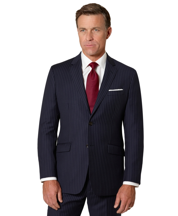 Milano Triple Stripe 1818 Suit Navy-White