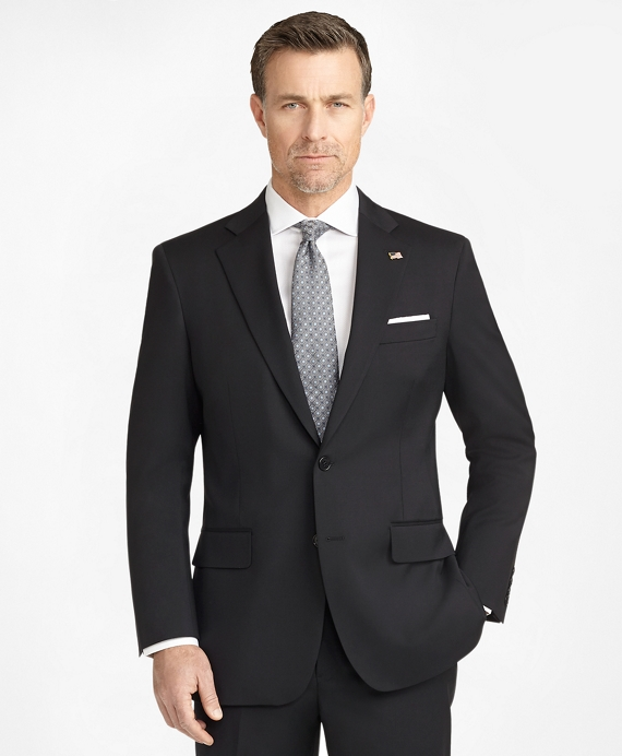 Madison Fit Two-Button 1818 Suit Black