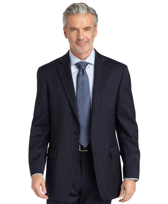 Madison Fit Track Stripe 1818 Suit Navy
