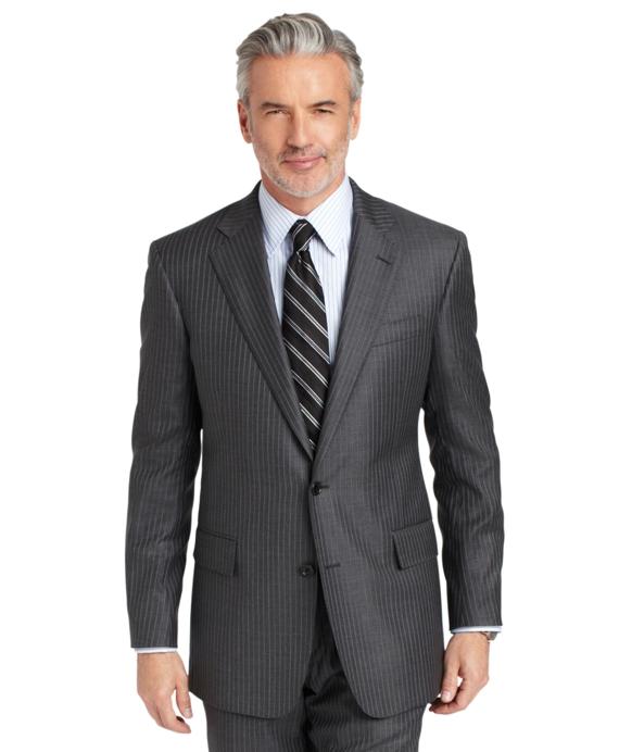 Regent Saxxon Grey with Alternating Blue Stripe 1818 Suit Grey