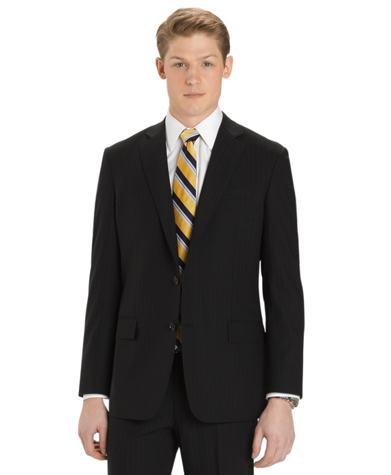 BrooksCool® Wide Pinstripe Regent Fit Suit Black