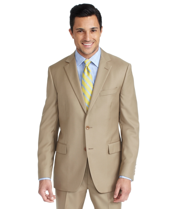 Fitzgerald Fit Tan Solid Gabardine 1818 Suit Tan