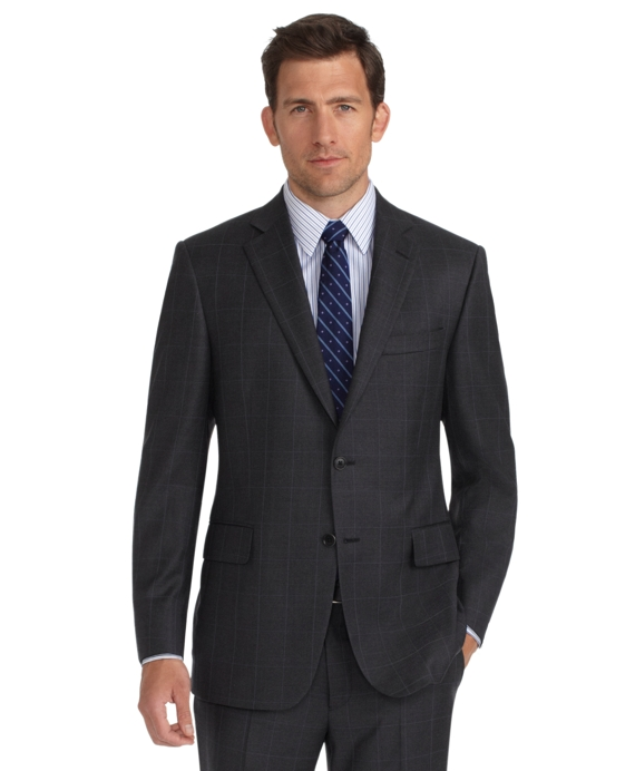 Madison Fit Plaid with Deco 1818 Suit Grey