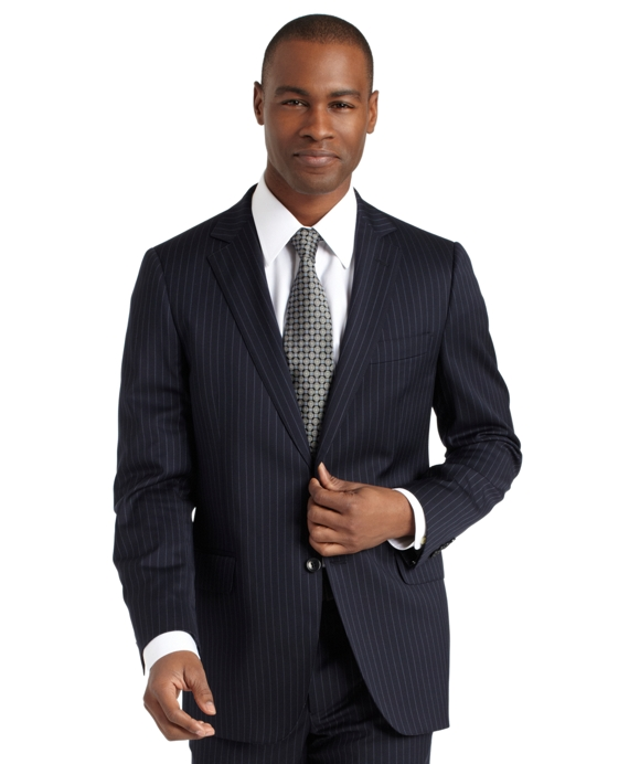 Fitzgerald Fit Rope Stripe 1818 Suit Blue