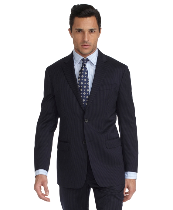 Milano Fine Stripe 1818 Suit Blue