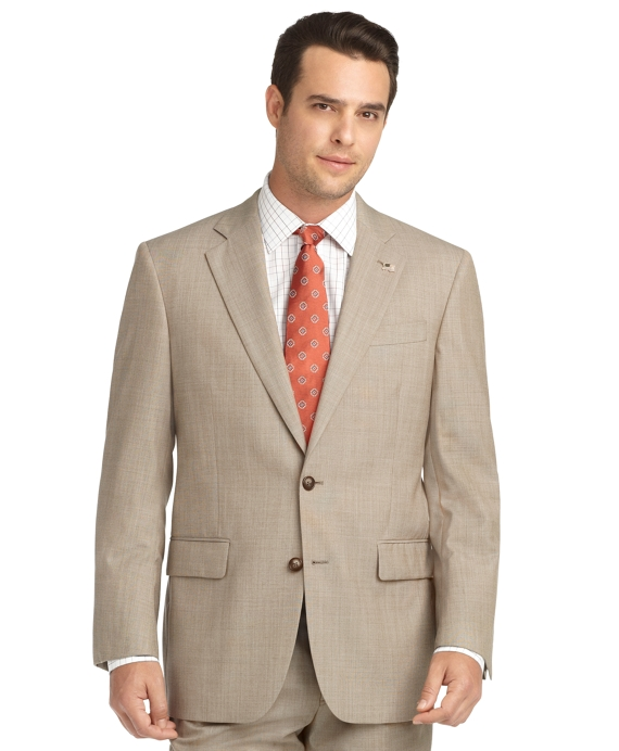 Madison Fit Saxxon Pindot 1818 Suit Tan