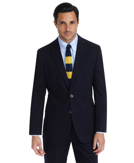 Cotton Twill Fitzgerald Fit Suit Navy