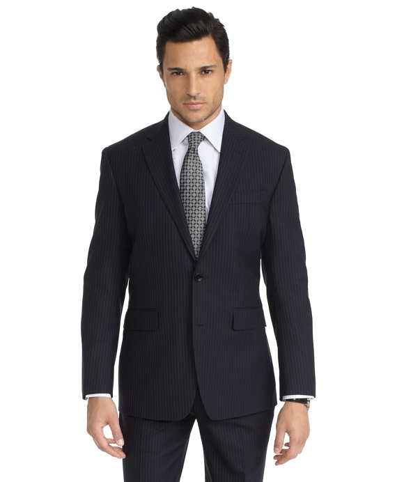 Milano Fit Saxxon Shadow Stripe 1818 Suit Black