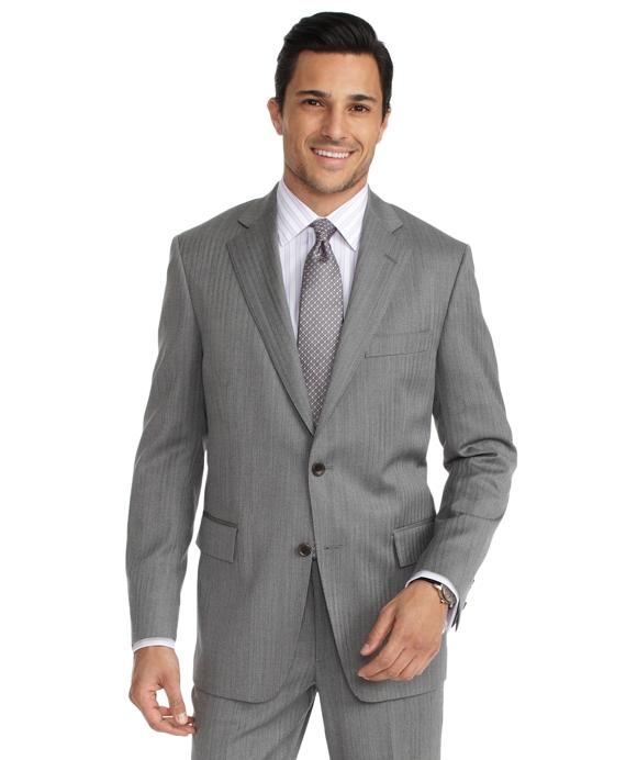 Regent Fit Herringbone 1818 Suit Grey