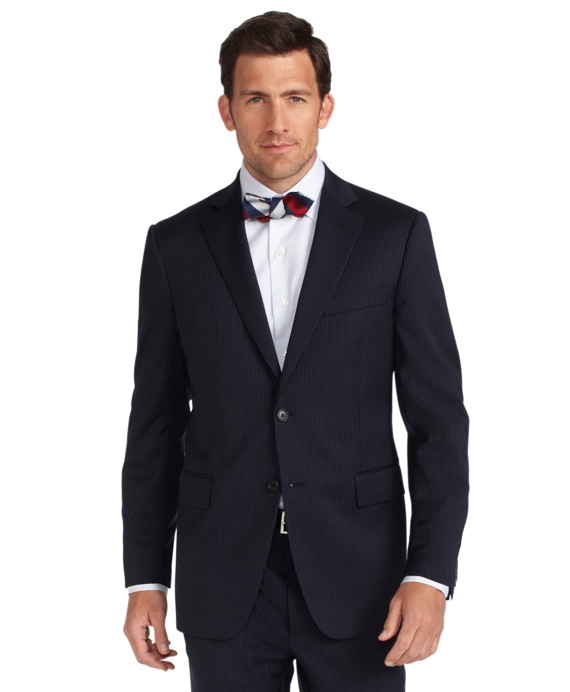 Madison Fit Fine Stripe 1818 Suit Blue