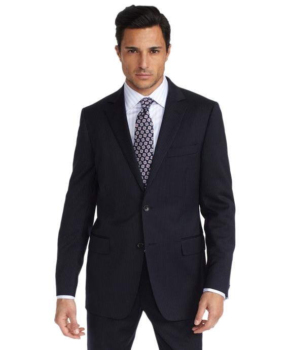 Fitzgerald Fit Fine Stripe 1818 Suit Blue