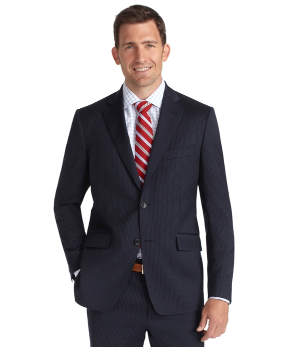 Regent Fit Fine Stripe 1818 Suit Blue