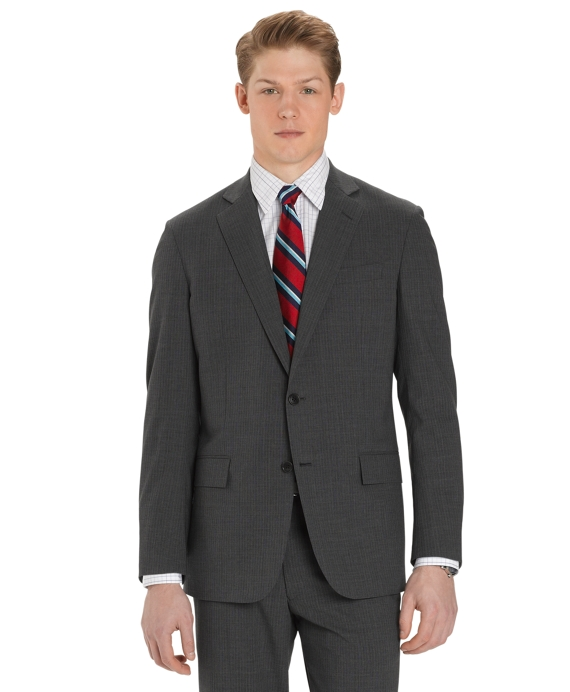 BrooksCool® Double Alternating Stripe Regent Fit Suit Grey