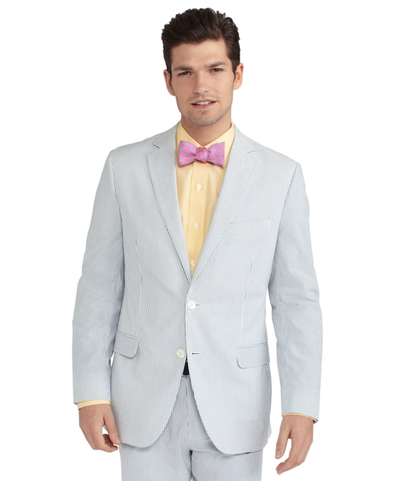 Seersucker Fitzgerald Fit Suit Navy-Ivory