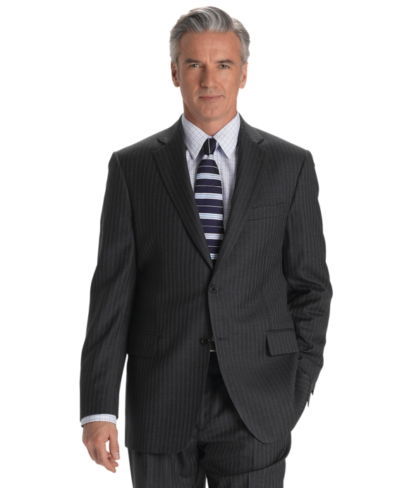 Madison Fit Track Stripe 1818 Suit Grey