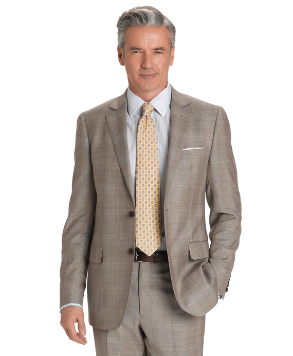 Fitzgerald Fit Plaid Deco 1818 Suit Tan