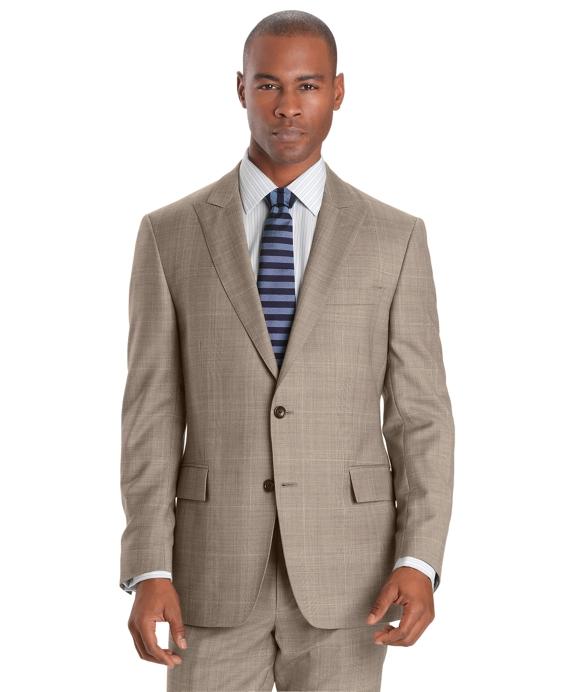 Regent Fit Plaid Deco 1818 Suit Tan