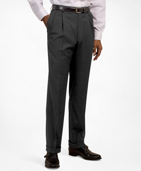 Pleat-Front Suiting Essential Trousers Dark Grey