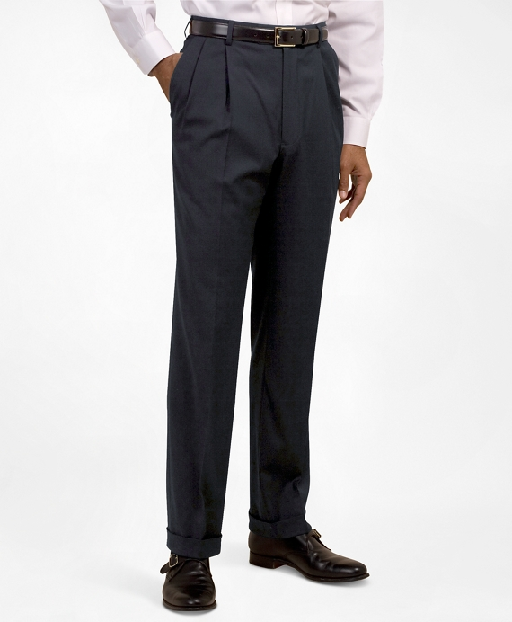 Pleat-Front Suiting Essential Trousers Navy