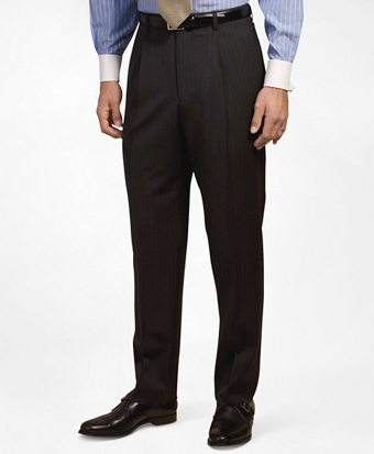 Pleat-Front Suiting Essential Stripe Trousers