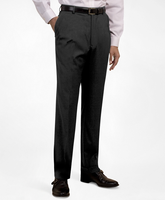 Plain-Front Suiting Essential Trousers Dark Grey