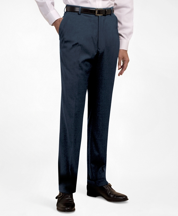 Plain-Front Suiting Essential Trousers Navy
