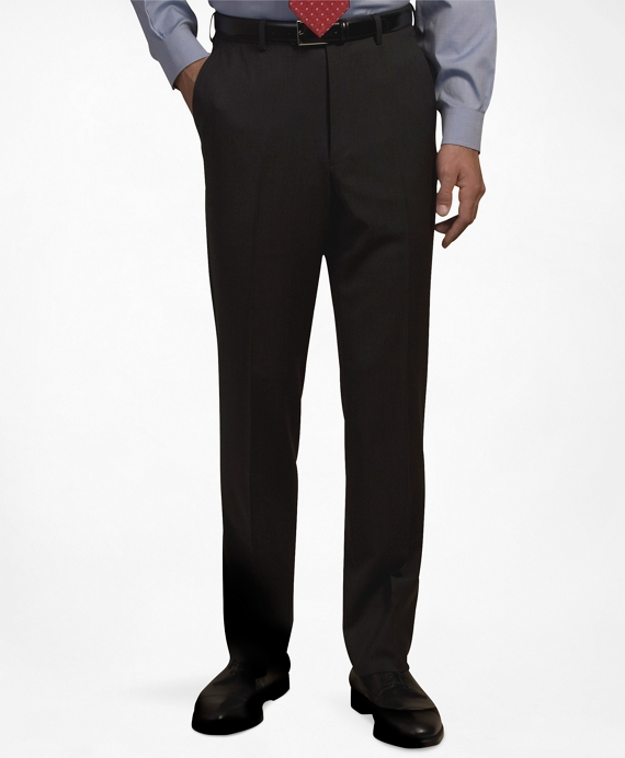 Plain-Front Suiting Essential Trousers Black