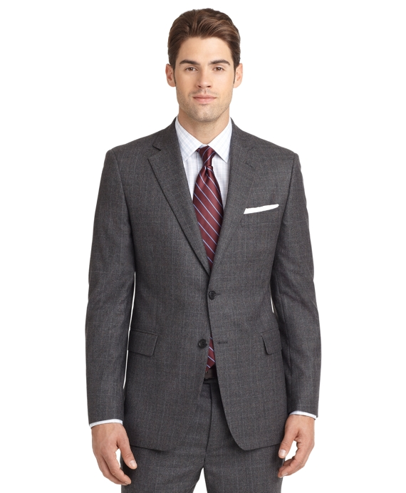 Madison Fit Charcoal Plaid 1818 Suit Charcoal